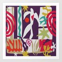 Inspired to Matisse (violet) Art Print