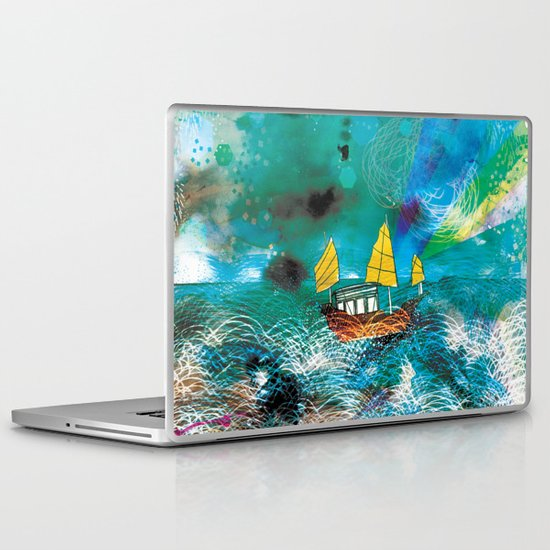 Come and Sail with me through the Stormy Sea Laptop & iPad Skin
