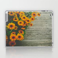 When Flowers Appear Laptop & iPad Skin