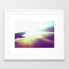 evening plane Framed Art Print