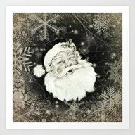 Vintage Santa Claus With… Art Print