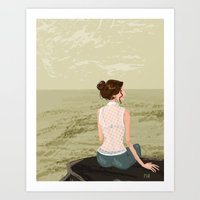 Girl By The Sea Art Print