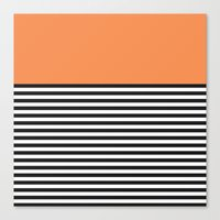 STRIPE COLORBLOCK {ORANG… Canvas Print