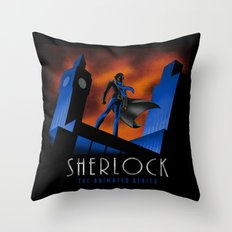 Sherlock Cartoon Throw Pillow