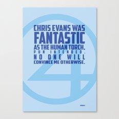 Nerdism 1 - Chris Evans Canvas Print