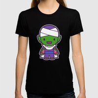 Piccolo Womens Fitted Tee Black SMALL