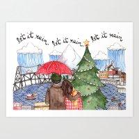 PNW Christmas Art Print