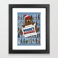 Where's Wookiee Framed Art Print