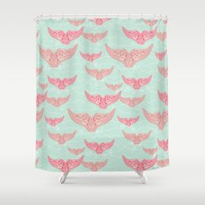 FINALLY! Whales are free from persecution! Shower Curtain