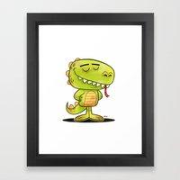 Anmals N' Stuff Series - 2 - Lizard Framed Art Print