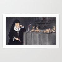 Juana De Asbaje Art Print