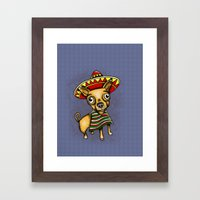 Mexican Chihuahua In Bro… Framed Art Print