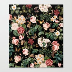 Floral And Butterflies Canvas Print