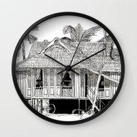 Rumah Kampung (Large) Wall Clock
