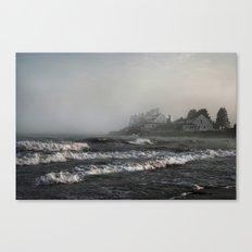 Foggy Maine Beach Canvas Print
