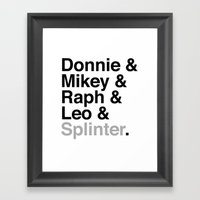 One Big Mutant Family: D… Framed Art Print