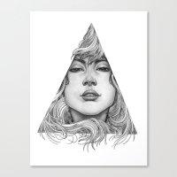 Triangle Portrait Canvas Print