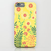 iPhone & iPod Case featuring A Yellow Flowery Pattern by Emma Randall