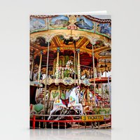 Double Decker Carnival Carousel  Stationery Cards