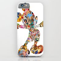 iPhone Cases featuring Mickey Mouse Silhouette  by Christa Morgan ☽
