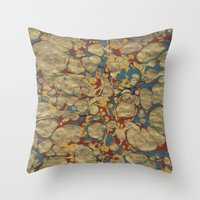Marbled Gold Throw Pillow