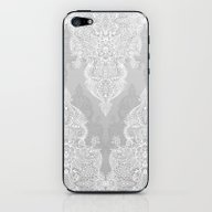 iPhone & iPod Skin featuring Lace & Shadows 2 - Monoc… by Micklyn