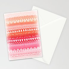 Triangle Gradient Pink Mix Stationery Cards
