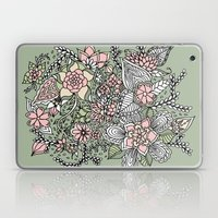 Modern Green Pink Floral… Laptop & iPad Skin
