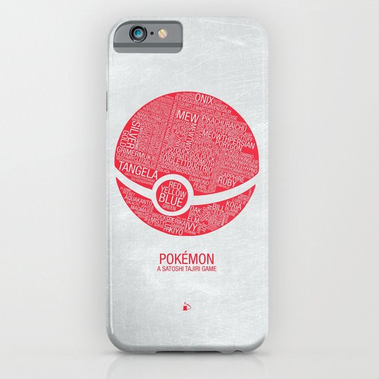 Pokemon Typography iPhone & iPod Case
