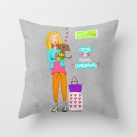 Dogs Are Travel Companio… Throw Pillow
