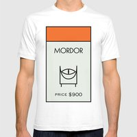 Mordor Monopoly Location Mens Fitted Tee White SMALL