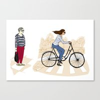 Street Stripes Canvas Print