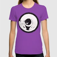 Cats Life: Dreaming Womens Fitted Tee Ultraviolet SMALL