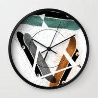 Skatestriangles Wall Clock