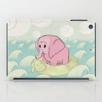 Elephant Across The Sea iPad Case