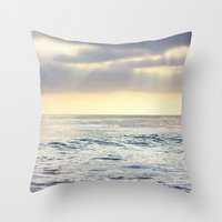 California Sunset Over T… Throw Pillow