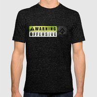 Lockout: Warning Offensive (MS-ONE) Mens Fitted Tee Tri-Black SMALL