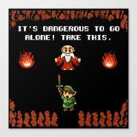 It's Dangerous To Go Alo… Canvas Print