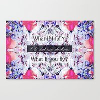What If you fly? Soft Canvas Print
