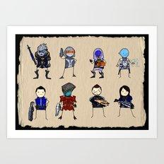 Mass Effect 3 Normandy Crew Art Print