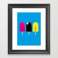 Ice pops Framed Art Print