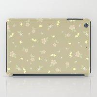 Floral on tan iPad Case