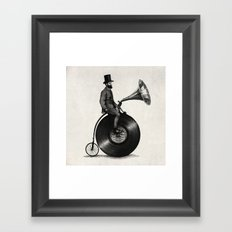 Music Man (monochrome Op… Framed Art Print