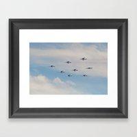 PAF-Patrouille De France… Framed Art Print