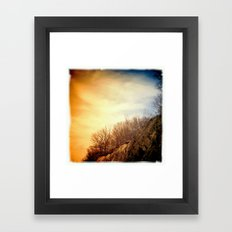 at the bottom of a cliff Framed Art Print