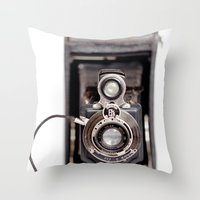 67-6 VINTAGE CAMERA COLL… Throw Pillow