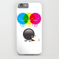 iPhone & iPod Case featuring CMY makes K dizzy by petipoa