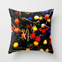 On Pins and Needles Throw Pillow