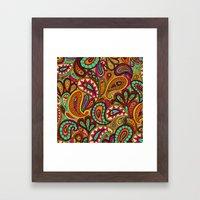 Basic Paisley  Framed Art Print