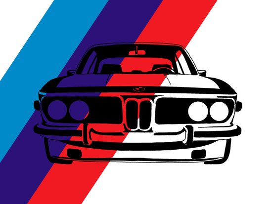 BMW E9 Canvas Print